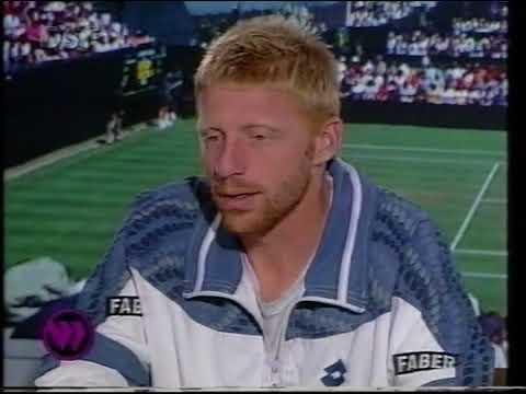 Wimbledon 1995 Semifinal Becker - Agassi Interview Both players
