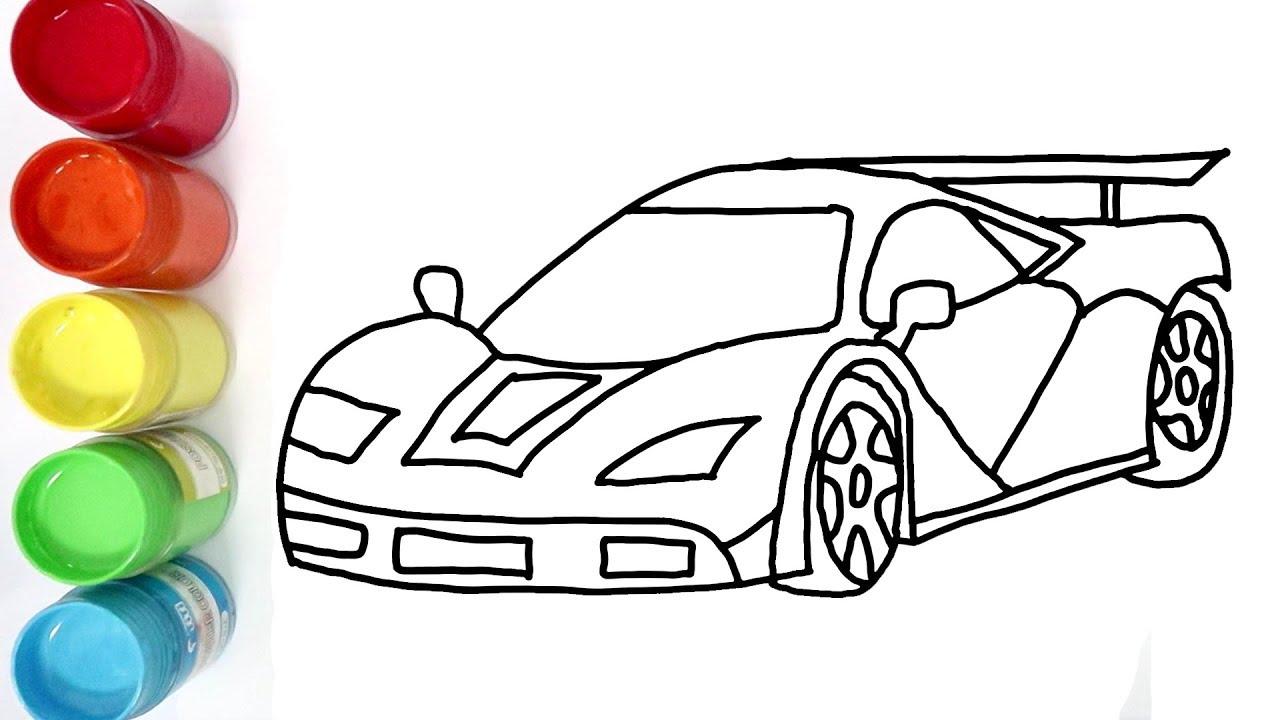 Cara Menggambar Dan Mewarnai Mobil Orang Kaya Youtube