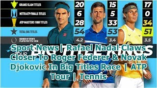 Sport News| Rafael Nadal Claws Closer To Roger Federer & Novak Djokovic In Big Titles Race | ATP ...