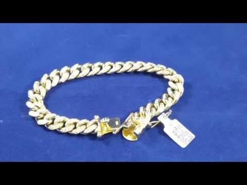 2.5ct diamond Cuban link bracelet 10mm wide
