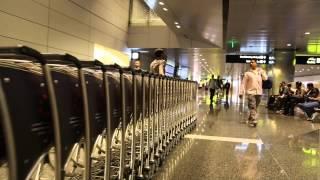 Doha,Qatar.  New international airport tour, 2014