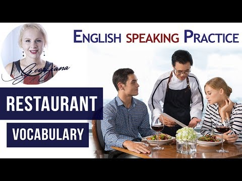 #036 English Food Vocabulary - Eat Healthy at a Restaurant