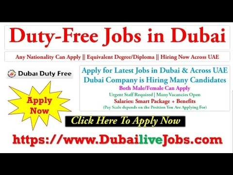 Duty Free Jobs in Dubai | Apply Online From Your Home Now