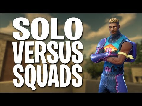 SOLO VERSUS SQUADS!!! Fortnite Battle Royale Gameplay - Svennoss