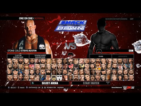 WWE 2K16 Roster Featuring WWE, NXT & Legends (Concept)