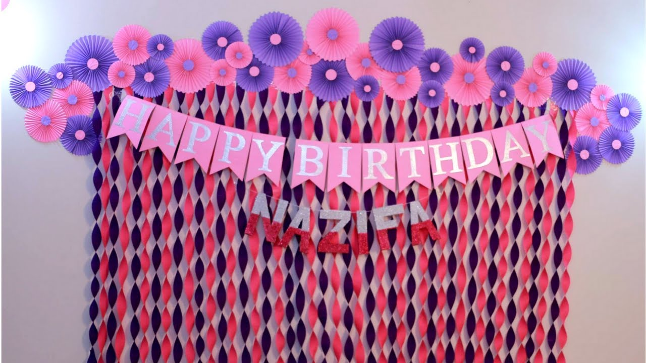 Exceptionnel Birthday Decoration Ideas At Home | Decorations For Baby Shower | Party Decoration  Ideas |Craftastic