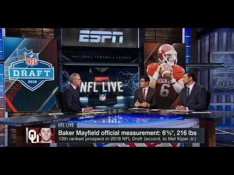Baker Mayfield Official Measurement and Browns No 1 Pick in NFL Draft  | NFL Live | Jan 23, 2018