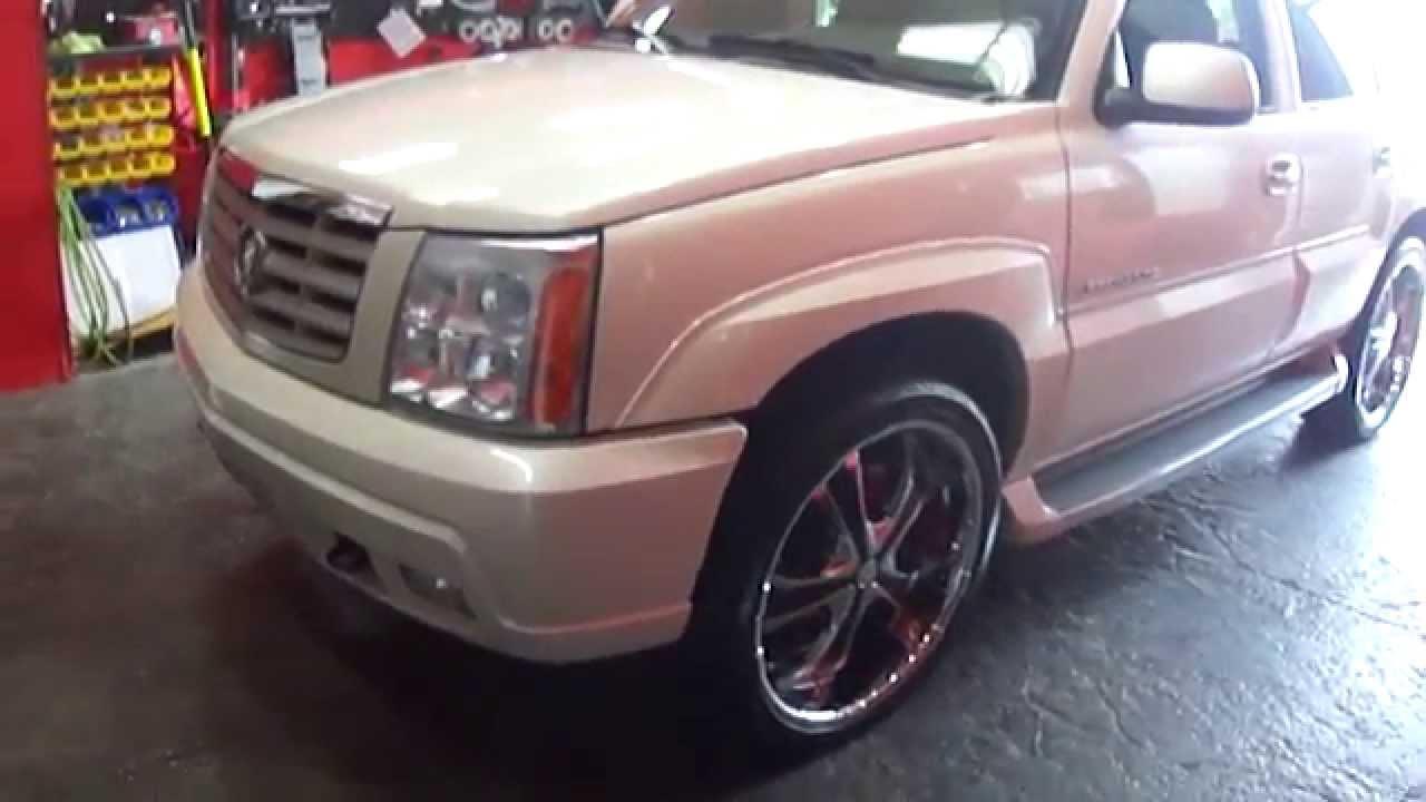 Cadillac 2002 cadillac escalade rims : HILLYARD CUSTOM RIM&TIRE 2005 CADILLAC ESCALADE RIDING ON 24 ...