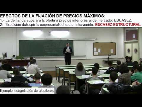 Efectos de la Fijación de Precios Máximos por el Profesor Huerta de Soto
