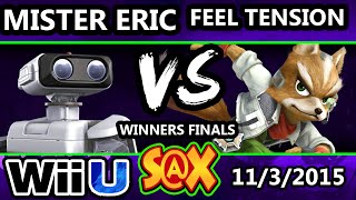 S@X 122 - HE | Mister Eric (ROB) Vs. Feel Tension (Fox) SSB4 Winners Finals - Smash Wii U - Smash 4