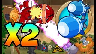 Bloons TD 6 - DOUBLE HEALTH MOABS - Firing Range