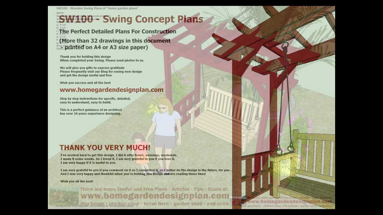 ... Arbor Swing Woodworking Plans - Outdoor Furniture Plans Free - YouTube