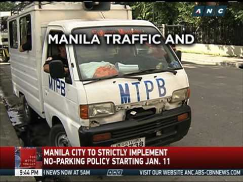 City of Manila to strictly implement no-parking policy starting Jan. 11
