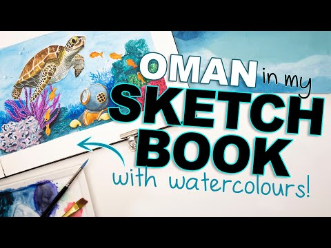 OMAN in my SKETCHBOOK + Next months country reveal