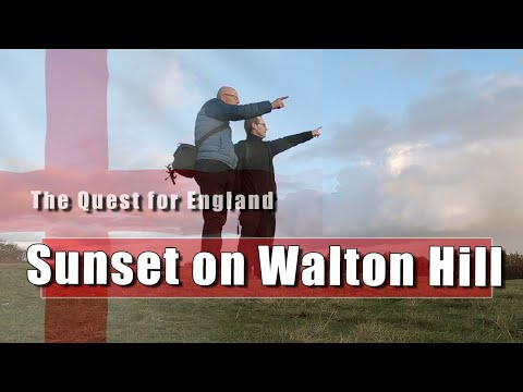 The Quest For England - Sunset On Walton Hill In Worcester