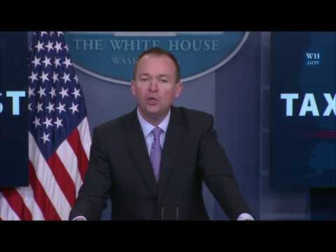 Briefing with Office of Management and Budget Director Mick Mulvaney