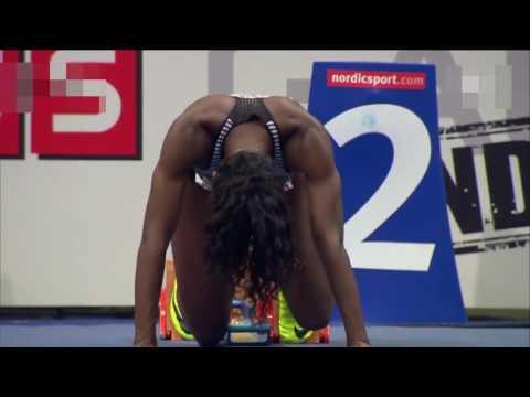 Dina Asher-Smith wins 60m at Bauhaus Galan Indoor Meet 2017
