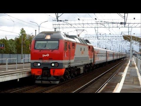 ЭП2К-157 с поездом №337Й Самара– Санкт-Петербург на станции Славянка