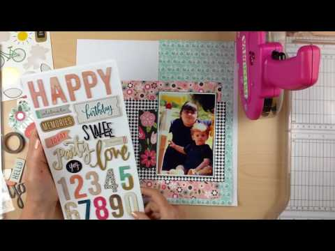 Scrapbook Process #194: Happy Birthday (The ScrapRoom)