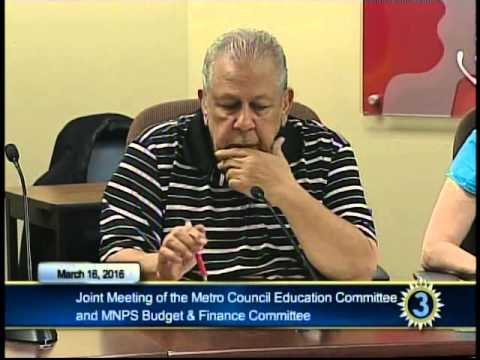 03/16/16 MNPS Joint Budget Meeting with Metro Council Education Committee