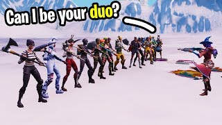 I hosted tryouts to be my duos partner for the Fortnite World Cup!