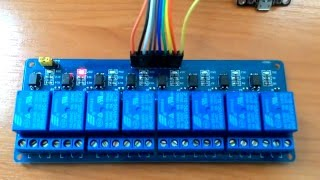 how to control 8 channel dc 5v relay module with nodemcu