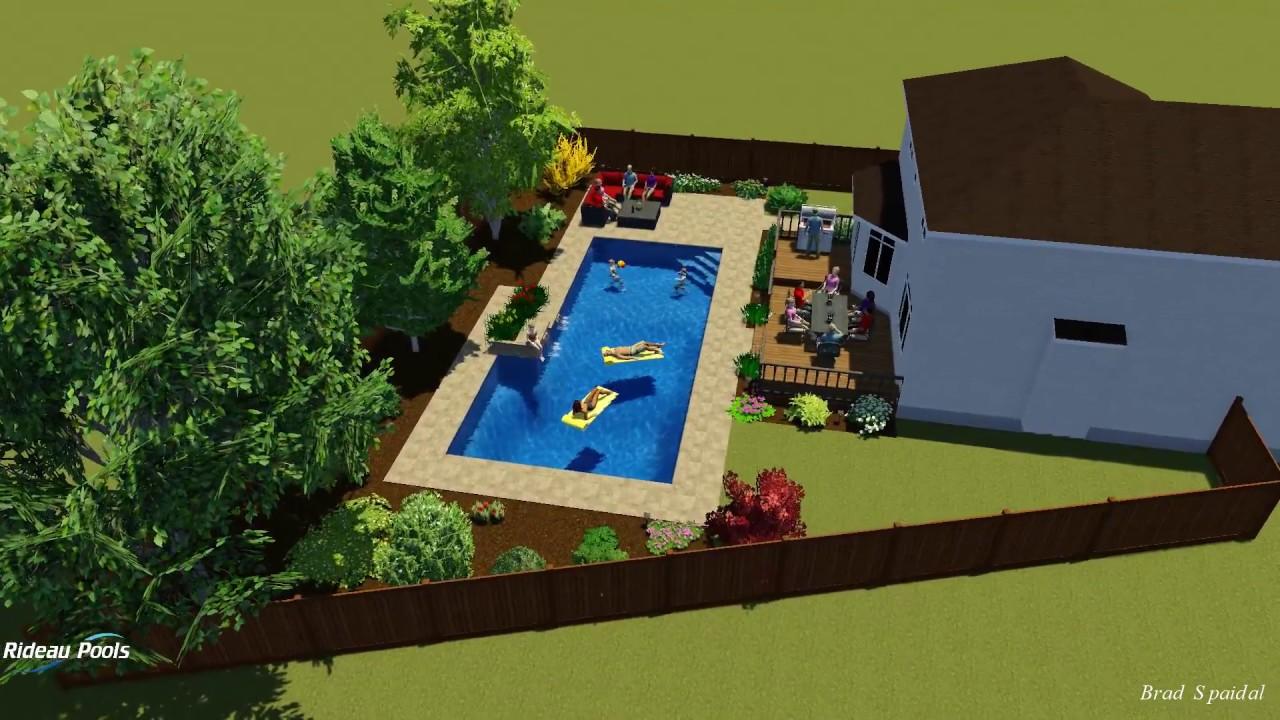 L shaped pool design by rideau pools ottawa youtube for Pool design ottawa