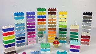 My LEGO Color Guide Update - Making Labels for different colors