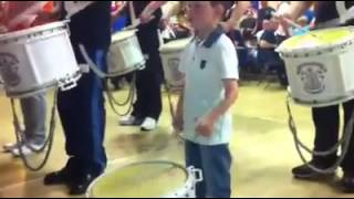 4 Year Old Kaiden of the Bridgeton Loyalists takes lead tip for The Sash