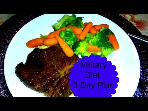 "Military Diet 3 Day Diet Plan ""I lost Weight!"""