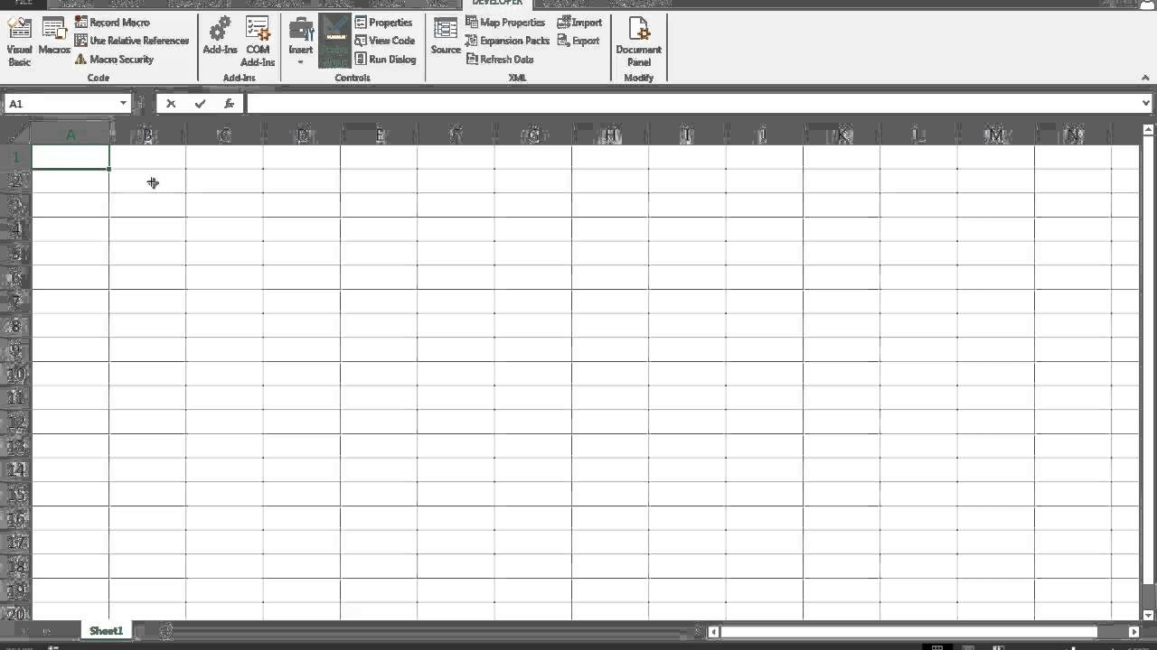 How to create and place an interactive calendar on an Excel ...