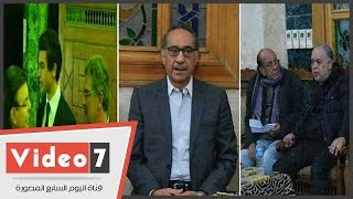 أشرف زكى وسمير صبرى ومحمد داوود ومحمد عبد القدوس فى عزاء زبيدة ثروت