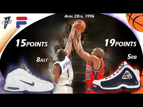 Penny Hardaway VS Grant Hill Face-off Round 1 G2 1996 Playoffs