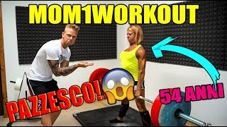 MIA MADRE SOLLEVA QUASI 100KG!!! (54 anni) | Mom1workout #1