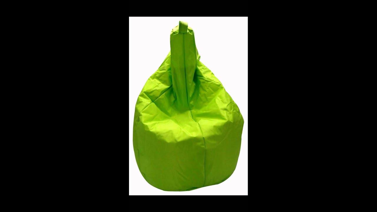 Poltrone sacco basic in nylon youtube