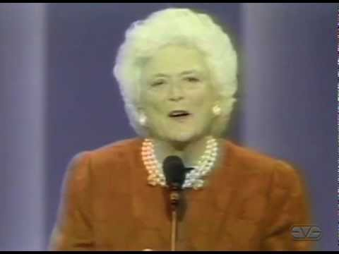 First Lady Barbara Bush Address to 1992 Republican National Convention