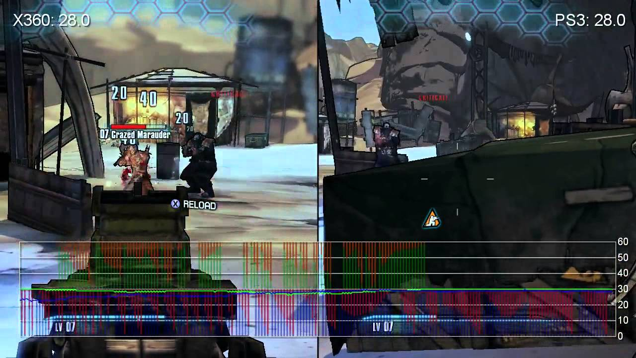 Borderlands 2 Xbox 360/PS3 Gameplay Frame-Rate Tests - YouTube