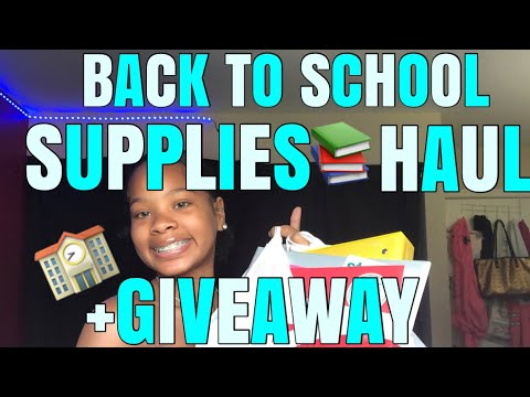 2019 BACK TO SCHOOL SUPPLIES SHOPPING HAUL +GIVEAWAY