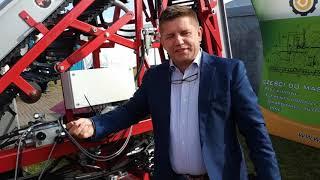 AGRO SHOW 2019. Firma SATOR prezentuje kombajn do zbioru marchwi.