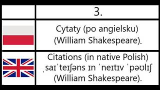 3. Cytaty (po angielsku) (William Shakespeare) - Citations (in native Polish) (William Shakespeare).