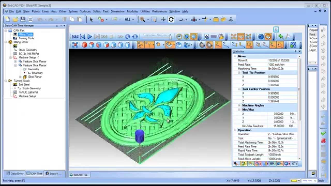 BuildYourCNC - BOBCAD-CAM 3 Axis Software