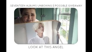 SEVENTEEN ALBUMS UNBOXING || POSSIBLE GIVEAWAY