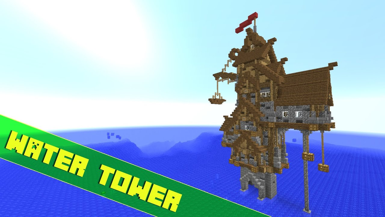 Minecraft How To Build A Offshore TowerHouse Tutorial Part 1 YouTube