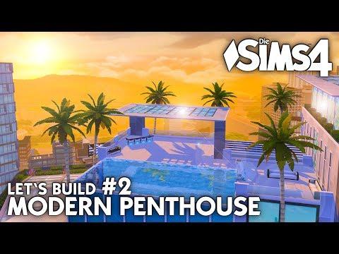 Grundriss | Die Sims 4 Haus bauen | Modern Penthouse #2 (deutsch)