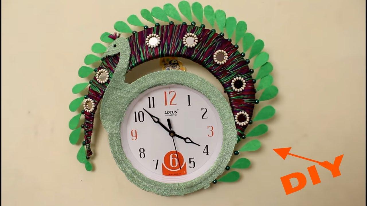 Diy Wall Clock Decoration Idea Designer Clock Decoration