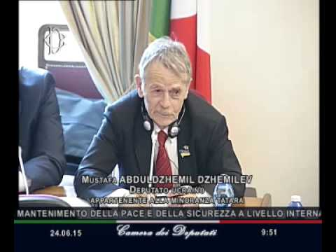 Roma - Diritti minoranze, audizione deputato ucraino Dzhemilev (24.06.15)