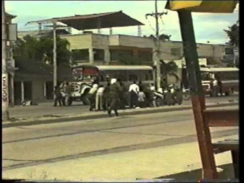 Asalto  bus urbano bazurto en Cartagena (Colombia) 15/10/96