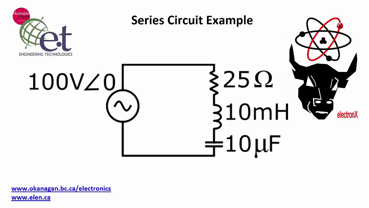 series circuit  ac  example calculations