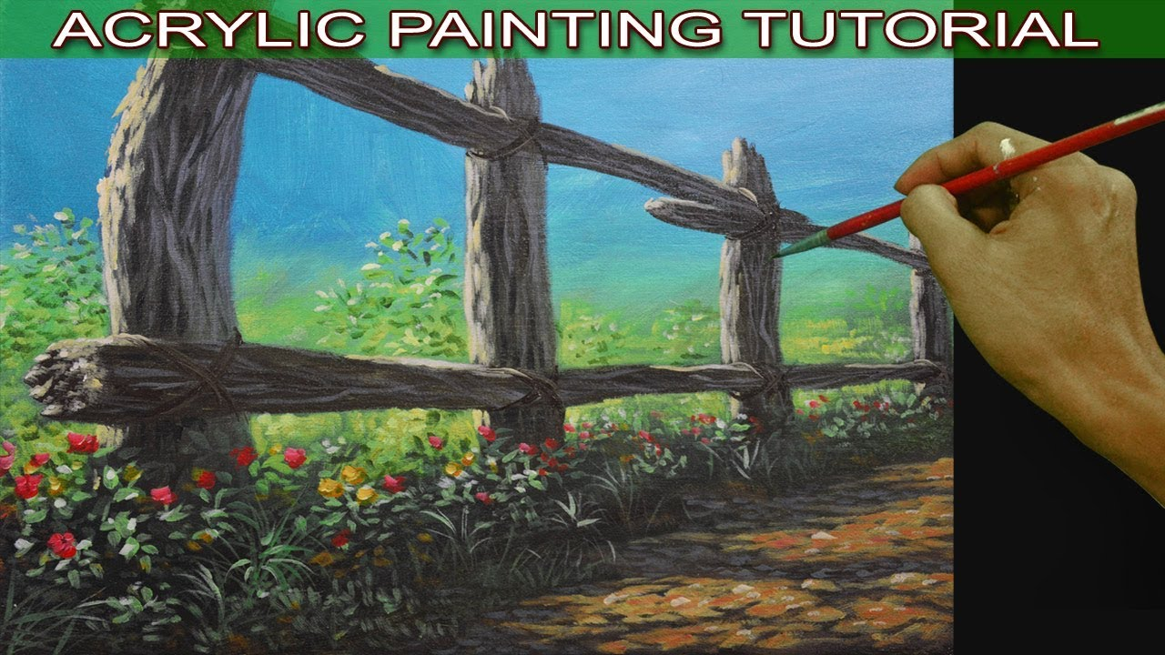 Acrylic Landscape Painting Tutorial On How To Paint An Old