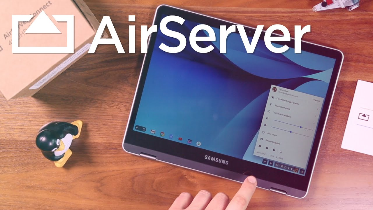 How to screen mirror your Chromebook device to AirServer Connect